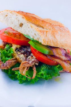 Soft shell crab BLT