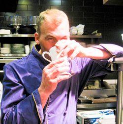 DA a few minutes before servie - coffee