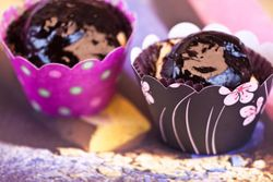DESSERT cup cakes, black forest tort