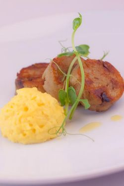 MIC. bread pudding-dumpling with scrambled eggs