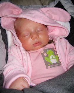 MIC. arabella sleeping for mothers milk blog post
