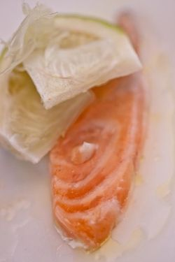 FISH ceviche salmon turns white