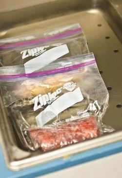 MEAT zip-loc bag beef and duck