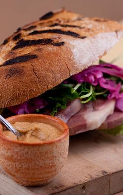 MEAT lamb sandwich