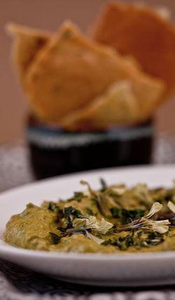 VEGETABLE nettle spread-hummus
