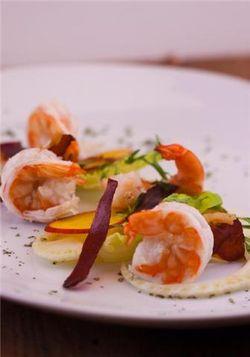 Shrimp, ham salad