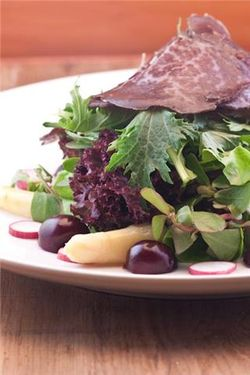 Cherries in salad