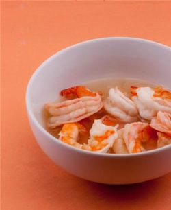 Shrimp in a bowl