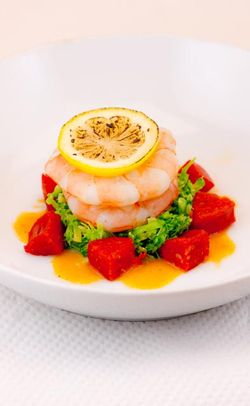 FISH shrimp with broccoli