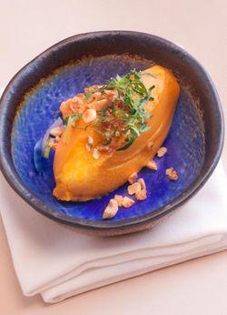 HAZELNUTS sweet potato puree