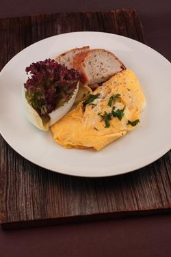 OMELET plated dish