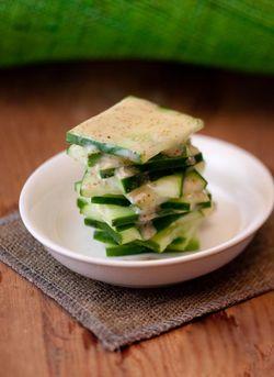 SCHNITZEL cucumber salad