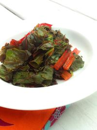 SWISS CHARD on a plate