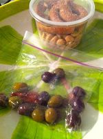ODDS AND ENDS olives and pretzels