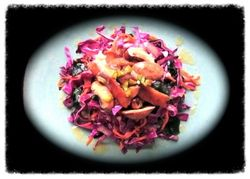 Papaya cabbage-salad