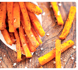 1 carrot fries seasoned with sea salt