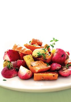 01 roast veg on a plate