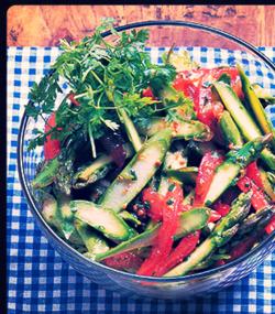 03 green asparagus salad