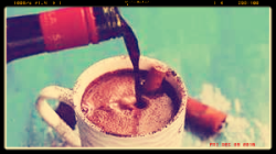 Hot chocolate spiked