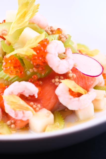 Arctic Char & British Columbia Shrimp with Green Apple & Celery Salad