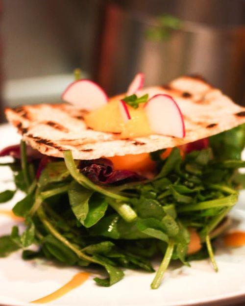 Deviled Egg-in-a-hole Salad with Porcini Mushroom Confiture