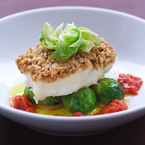 Pine Nut Crusted Halibut