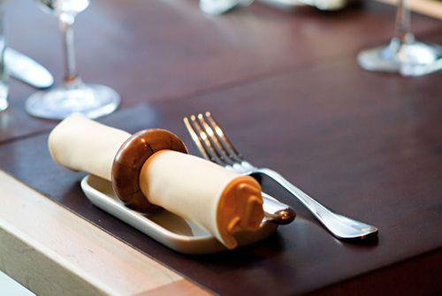 Masa napkin & Christopfle flat ware